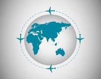 Samoloty dookoła świata Obrazy Stock