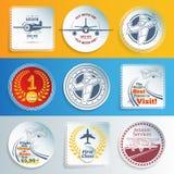 Samoloty, lotnictwo majchery i etykietki i ilustracji