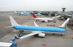 samoloty lotniskowi Fotografia Royalty Free