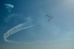 Samoloty na airshow fotografia royalty free