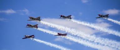 Samoloty na niebie Sydney Zdjęcie Stock