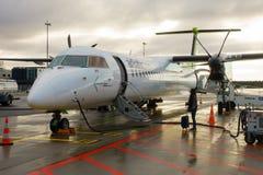 Samoloty niski koszt linii lotniczej firmy powietrze Bałtycki Obraz Royalty Free