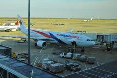 Samoloty parkuje w Terminal Dwa Pudong lotnisko międzynarodowe Szanghaj Zdjęcie Royalty Free