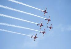 Samoloty przy Australia dniem Obrazy Royalty Free