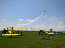 Samoloty przy pokazem lotniczym Obraz Stock