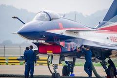 Samoloty szturmowi na asfalcie obraz royalty free