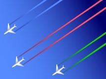 Samoloty trzy Zdjęcie Stock