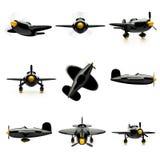 Samoloty ustawiający odizolowywającymi na białym tle ilustracja wektor