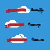 Samoloty z faborkami Fotografia Royalty Free