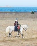 Ο ιππότης σε ένα άλογο Στοκ φωτογραφία με δικαίωμα ελεύθερης χρήσης