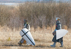 Two knights Royalty Free Stock Images