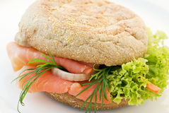 Samon Sandwich Royalty Free Stock Images