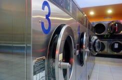 Samoobsługowa pralnia w Barcelona Obrazy Royalty Free