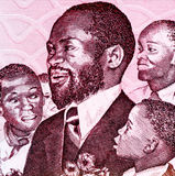 Samora Machel. (1933-1986) on 1000 Meticais 1989 Banknote from Mozambique. Mozambican military commander, revolutionary socialist leader and President of Stock Photography