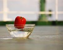 Samordnat slut upp av röd spansk peppar Royaltyfria Bilder