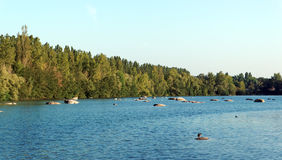 Samoreau lake near Fontainebleau forest Stock Photo