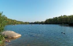 Samoreau lake near Fontainebleau forest Royalty Free Stock Photo
