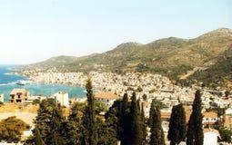 Samos city Stock Image