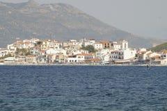 Samos dorp Stock Foto's