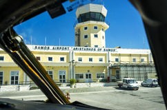 Samos-Flughafen lizenzfreie stockfotografie