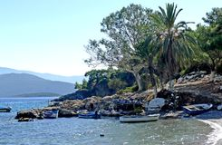 A beach on the island of samos greece royalty free stock photo