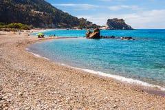 Potami beach, Samos stock image