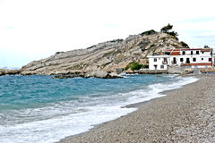 The samos island and its sea royalty free stock photo