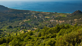 Samos island north coast panorama Stock Photography