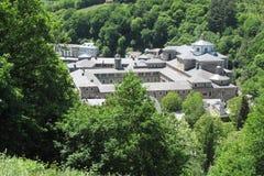 Samos monastery. Camino Frances pilgrimage Royalty Free Stock Image