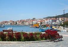 Samos port, Grekland Fotografering för Bildbyråer
