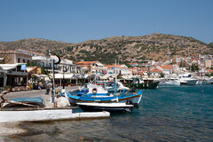 Samos - Pythagorio, the touristic harbour of North Aegean Royalty Free Stock Images