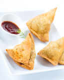 Samosa νότιων ινδικό τροφίμων Στοκ Εικόνες