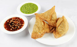 Samosa combo Stock Photo