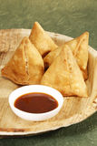 Samosa - Deep Fried patty Filled with potato & vegetables.  Royalty Free Stock Image
