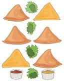 Samosa design vektor illustrationer
