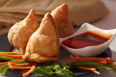 Samosa- An Indian fried, baked pastry. Stock Images