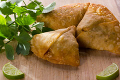 Samosa - indian paste. Samosa, indian paste with vegetables and chick-pie Stock Images