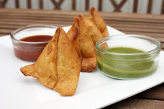 Samosa, Indian snack Royalty Free Stock Photography