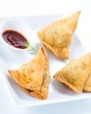 Samosa indiano del sud dell'alimento Fotografia Stock