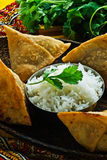 Samosa indien Images stock