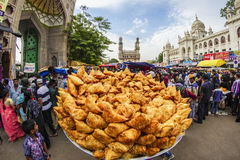Samosa. Introduced by Muslim merchants to India, it has been the widely consumed and popular snack ever since Royalty Free Stock Photos