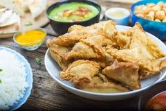 Samosa, Samosa kulebiaki z mięsem, kulebiaki z mięsem, Bangladesz cuisin obraz royalty free