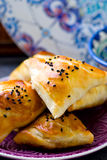 Samosa on a plate. Royalty Free Stock Photo