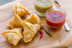 Samosa. Popular Indian snack horizontal image Stock Photography