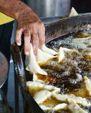 Samosa preparation Royalty Free Stock Photo