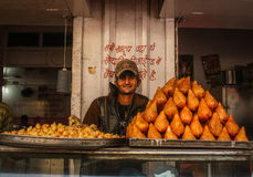 Samosa shop Stock Image