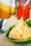 Samosa with spices. Indian pastries Royalty Free Stock Photo