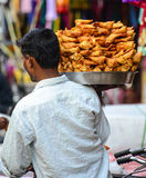 Samosa Vendor Stock Image