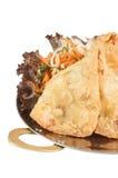 Samosas на белой предпосылке Стоковые Фото