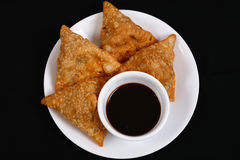Samosas Stock Photography